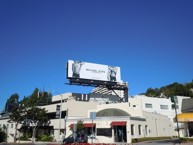Michael Kors underwear billboard Sunset Strip