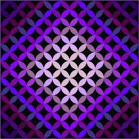 Purple ombre orange peel quilt by Slice of Pi Quilts
