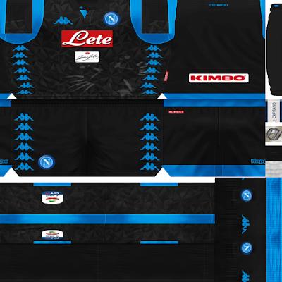 PES 6 Kits SSC Napoli Season 2018/2019 by FacaA/Ngel