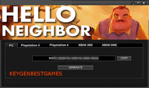 hello neighbor keygen key generator for full game download