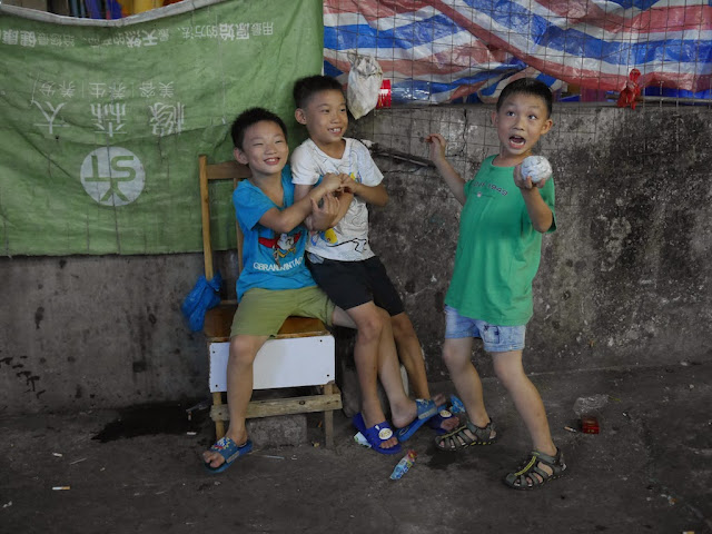 boys posing for a photo in Zhuhai, China