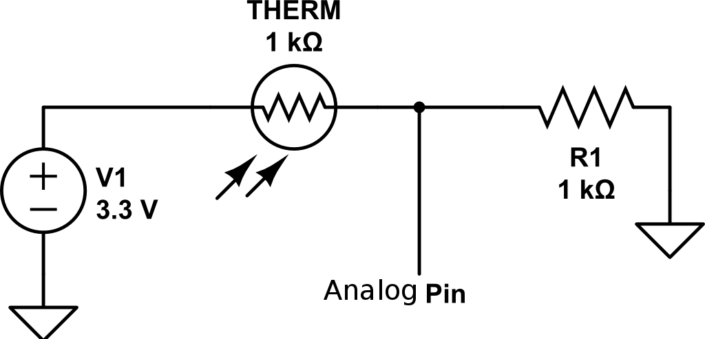 Thermistor Temperature Thermostat Schematic, Thermistor