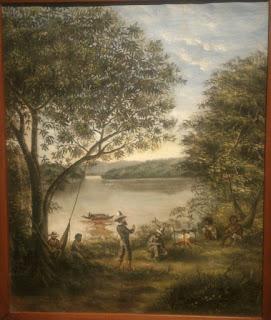 pintura de expedicionarios en el catatumbo
