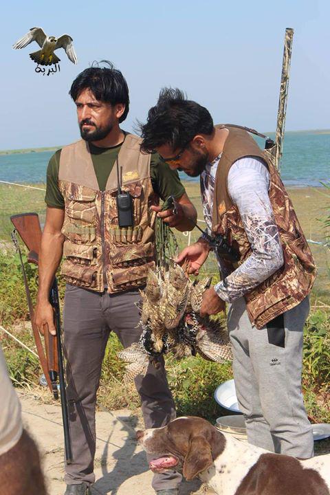 صيد الكابتن محمد حميد حارس مرمى المنتخب العراقي و صياد في البرية  الثرثار