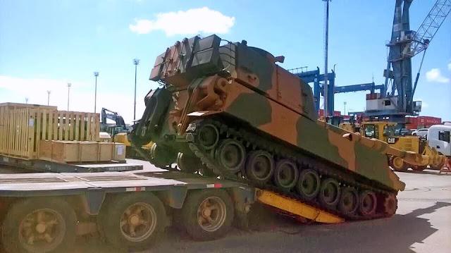 BAE desembarca en Brasil el primer lote de obuses M109A5+BR. 565656
