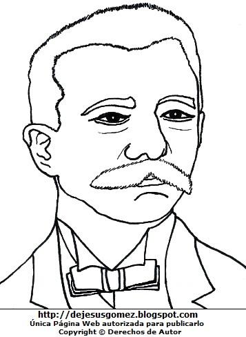 Imagen de Eduardo López de Romaña para colorear pintar imprimir. Dibujo de Eduardo López de Romaña de Jesus Gómez