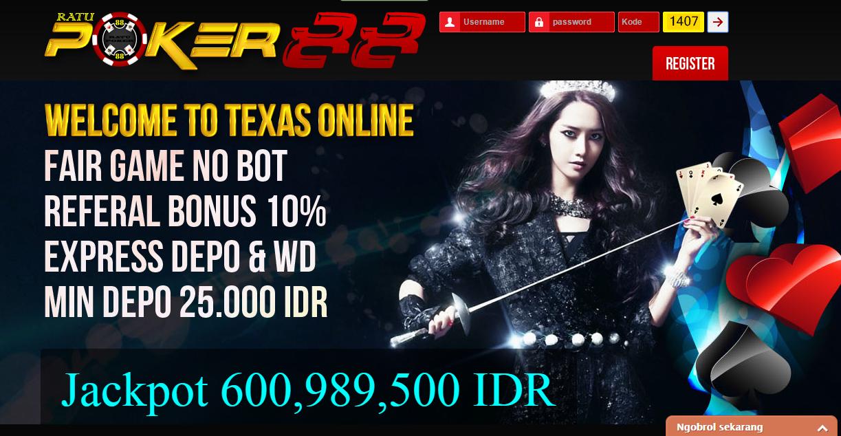 Ratupoker88.com Judi Texas Holdem Poker Online Asli Terpercaya Dan Terbesar Di Indonesia