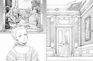 Planche de dessin Marie-Antoinette La jeunesse d'une reine