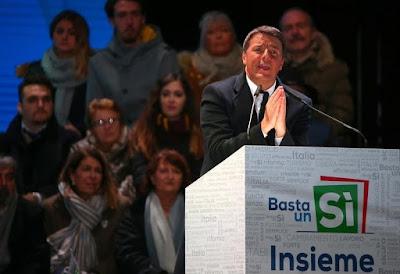 """Renzi pidió el voto del """"sí"""" desde la ciudad de Florencia. Foto: Reuters."""