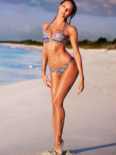 Candice Swanepoel Sexy Victoria's Secret Bikini Models Photoshoot