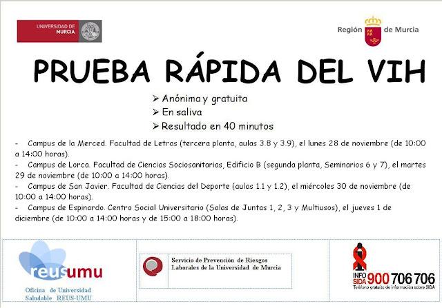 Por la prevención del VIH/sida en la UMU.