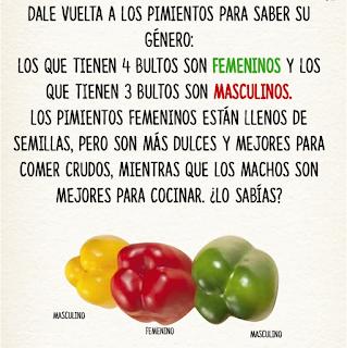 Trucos para elegir alimentos PIMIENTOS