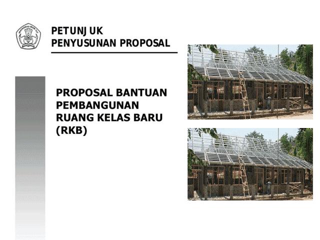 Contoh Proposal RKB ( Pengajuan Ruang Kelas Baru ) Format Words