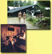 clothing optional sauna