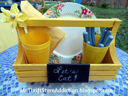Repurposed picnic caddy