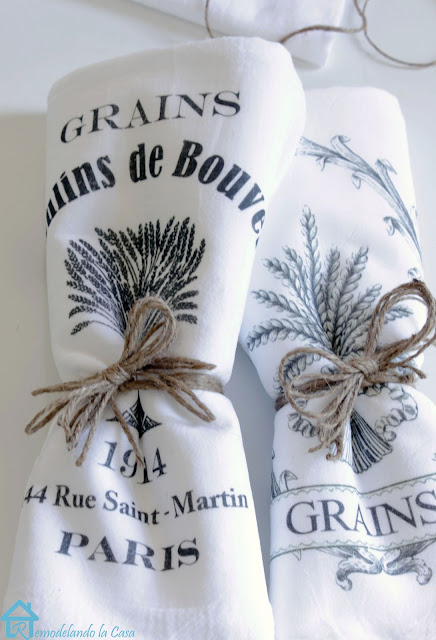 Grains Moulins de Boveir kitchen towels