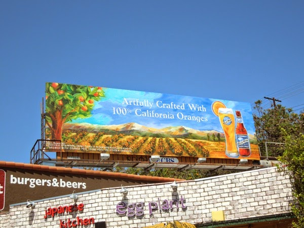 Blue Moon Artfully crafted 100% California oranges billboard