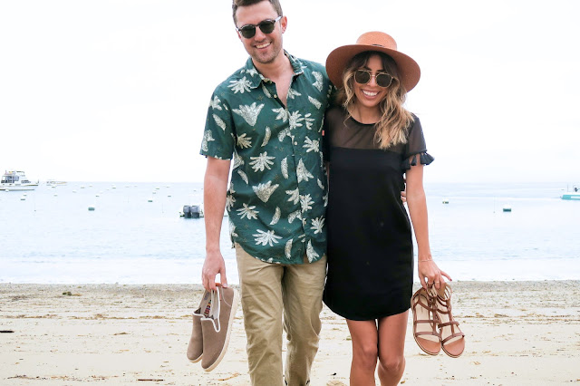 beach couple shots, hush puppies shoes, what to wear in Catalina, traveling with your boyfriend