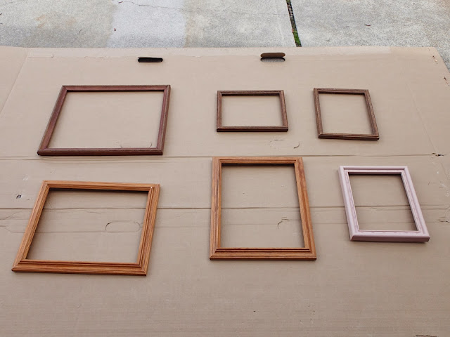 DIY Spray Painting Pictures Frames