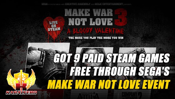 Got 9 Paid STEAM Games Free Through SEGA's Make War Not Love Event