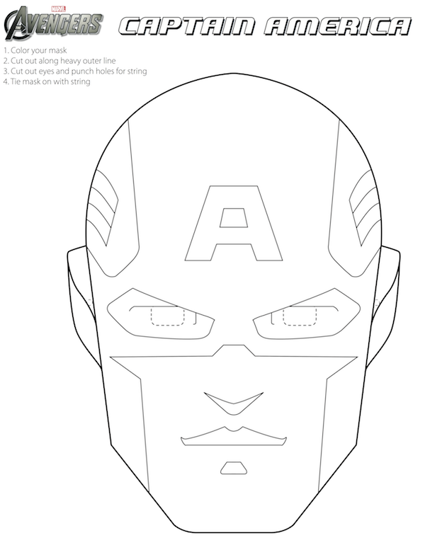 Vengadores m scaras para colorear para imprimir gratis for Iron man face mask template
