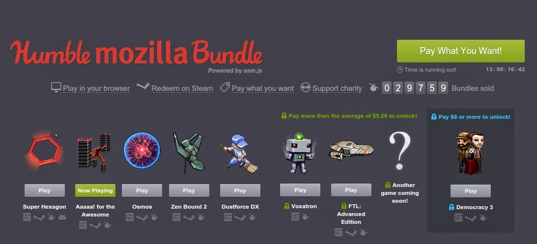 Humble Bundle Update: The Holynub Report: Completionist 2014: Pre-Extra Life Update