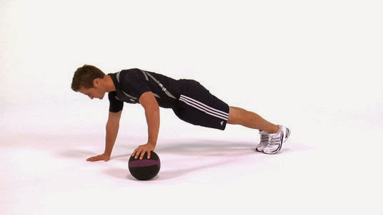 Tracking Your Progressive Overload -- push up with one hand on ball