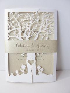 invito matrimonio con albero stilizzato