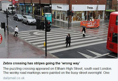Daily Mail article on Eltham High Street crossing stripes