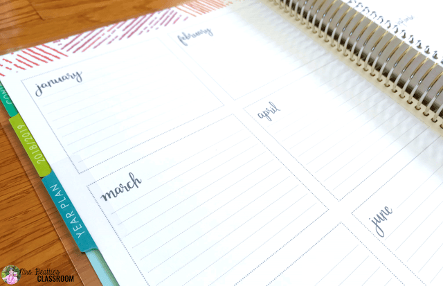 Photo of Erin Condren Teacher Planner planning pages