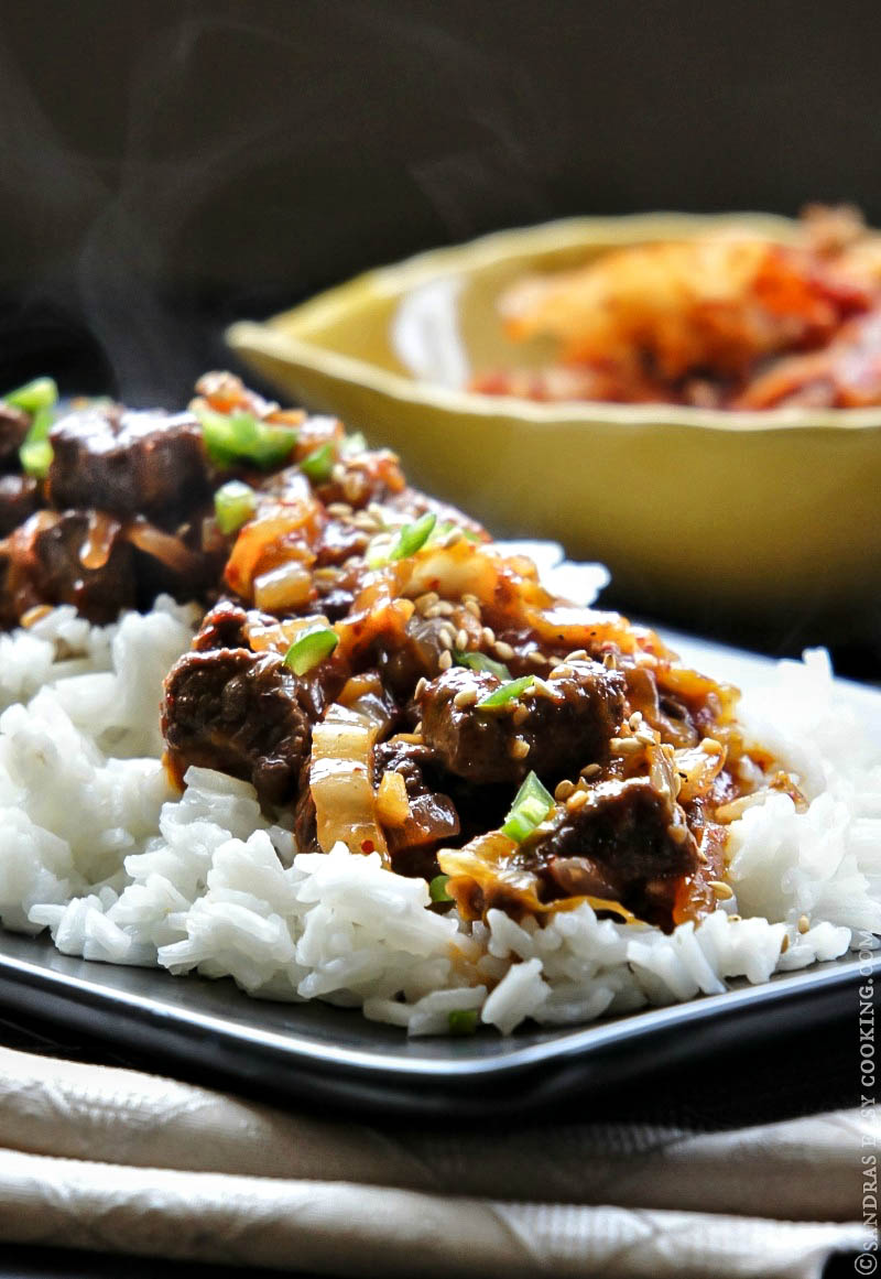 Simple and delicious recipe for Slow Cooked Beef with Kimchi