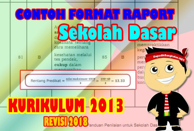 Contoh Format Raport SD Kurikulum 2013 Terbaru