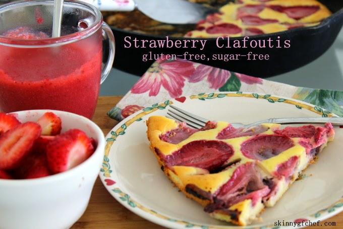 Grain Free Strawberry Clafoutis & Strawberry Coulis