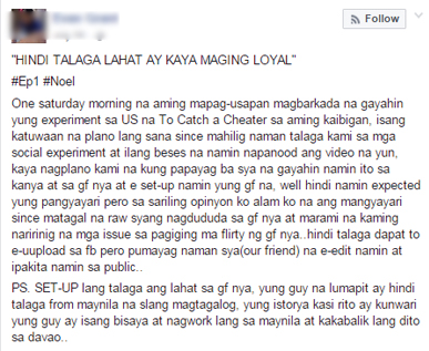 Filipino Netizens Recreate 'To Catch A Cheater' And It Goes Viral! Find Out How The Experiment Ended!
