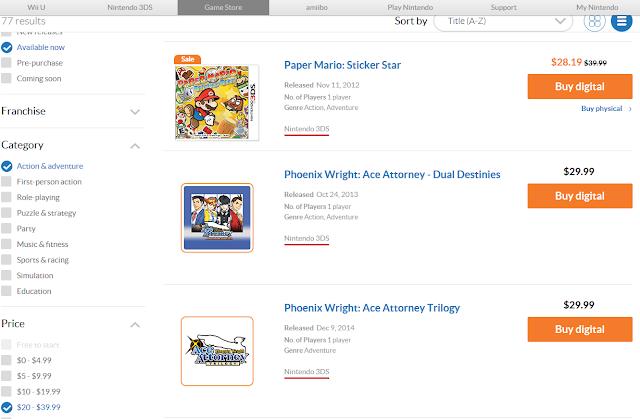 Nintendo.com Game Guide Buy Digital download Phoenix Wright Ace Attorney Trilogy Dual Destinies Paper Mario Sticker Star