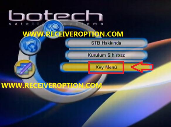 BOTECH PIKO-107 GOLD FTA RECEIVER BISS KEY OPTION
