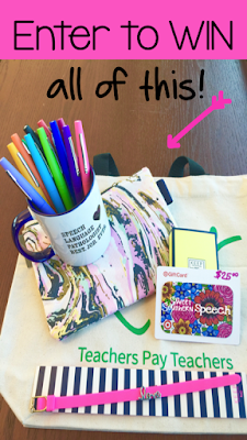 Contest for Speech Therapists Back to School shopping