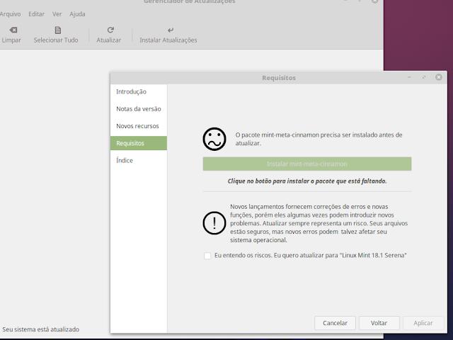 Atualização do Linux Mint