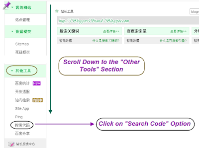 Baidu Search Box Code Option