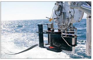 Гидролокатор VDS-100 в процессе спуска