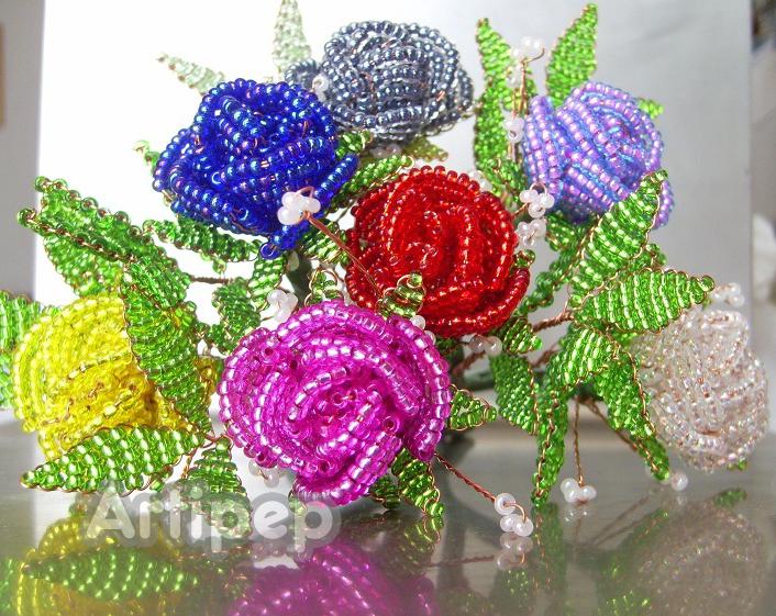 ramo de rosas de varios colores