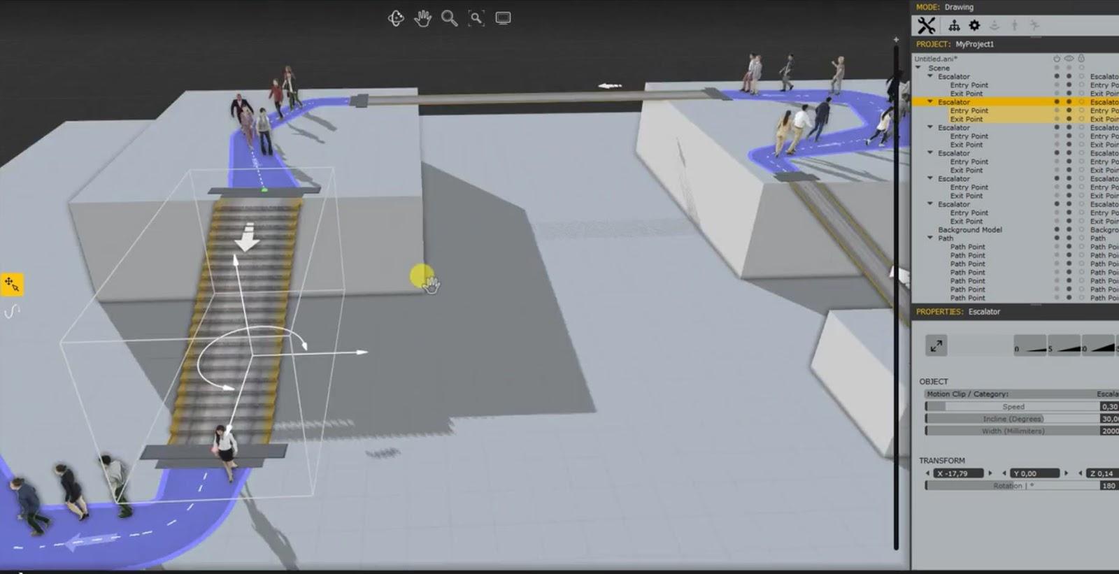Creating animation people walking on escalators and moving walkways creating animation people walking on escalators and moving walkways with anima 2 malvernweather Choice Image