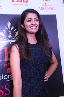 Model Shreya Kamavarapu in Short Black Dress at FBB Miss India 2017 finalists 044.JPG