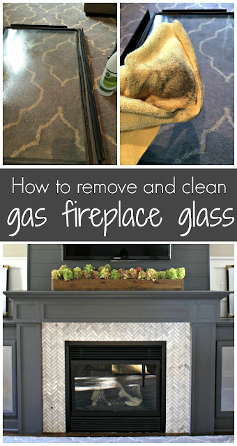 How to clean gas fireplace glass
