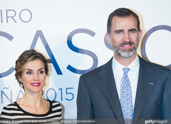 King Felipe and Queen Letizia attended the inauguration of the 'The First Picasso' exhibition at the 'Museo de Belas Artes A Coruna