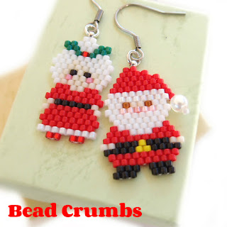 Request your own seed bead holiday earrings.
