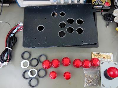 Joystick Arcade vermelho