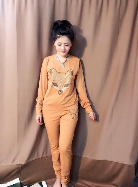 Mẫu đồ bộ dài tay nữ tixi Tết đẹp