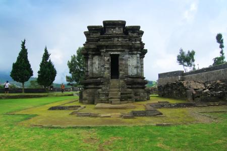 Candi Gatotkaca di Dieng Banjarnegara Jawa Tengah