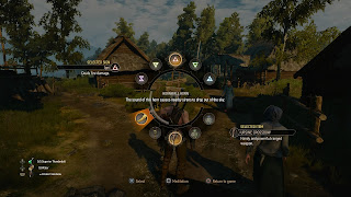 The quick-select wheel from Witcher 3.